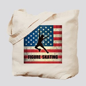 Grunge USA Figure Skating Tote Bag
